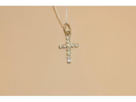 Крест млечный путь (Ag 925 11-фианитов)